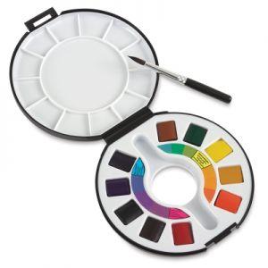 Confezione Colori Acquerelli in set da viaggio 10 mezzi godet Raphael Campus