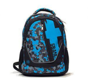 Zaino Borsa scuola con tripla sacca centrale X-Tag Sbam Blu