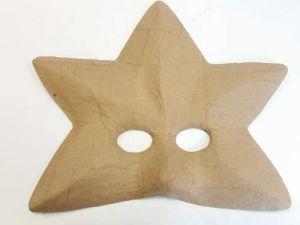 Maschera a 5 punte in cartone pressato Grezzo - da decorare - art. 81 073 00