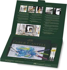 Set Matite pastello Acquerellabili Albrecht Durer e Penne a china 4 Pitt Artist Pen Faber-Castell