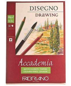Blocco di carta da disegno 30 fogli 29,7x42  Fabriano Accademia