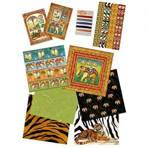 Kit carte per Scrapbooking  Etnico India - Stamperia SBKIT017