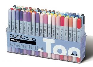 Pennarelli copic ciao, set da 72 colori B