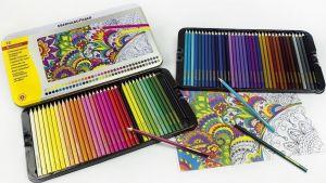 72 Matite Colorate - Pastelli esagonali - Confezione Metallo - art. 514872 - EberhardFaber