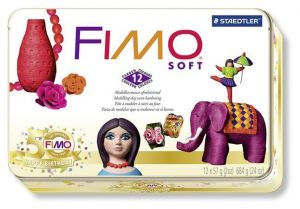 Fimo Soft set scatola in metallo  Limited Edition 50° anniversario  12 panetti da 57 gr