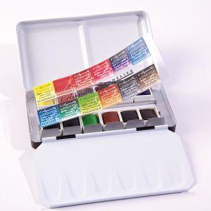 Acquerelli - Watercolour - Extra-Fine - L'Aquarelle Sennelier (a Base di Miele) - confezione in metallo - 12 mezzi Godet - art. N131605 - Sennelier