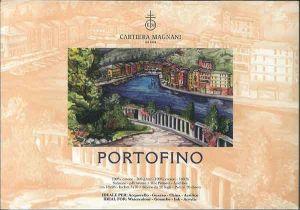 PORTOFINO - Blocco Carta per Acquerello, China e Acrilico - 100% Cotone - 300 g -  Satinato - Doppia Imprimitura - 18x26 cm - Cartiera Magnani