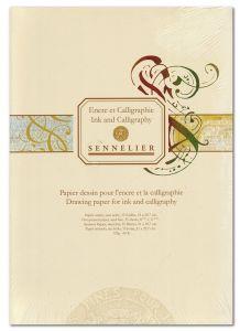 Blocco di carta per Calligrafia - 35 fogli - 125 g - Bianco/Avorio -  A4 - art. BP 204 - Sennelier