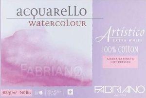 Blocco da Disegno - Fabriano Artistico - Acquarello 100% cotone Extra White - 20 fogli 30,5x45,5cm - grana satinata - 300 g
