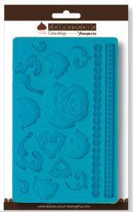 Calco in silicone - decorazioni, rose e foglie - art. QDC035 - CakeDesigne Stamperia Dolcemania