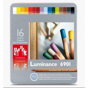 Caran D'Ache 16 Luminance 6901 - 16 Pastelli colorati professionali ad alta pigmentazione - art. 6901.316