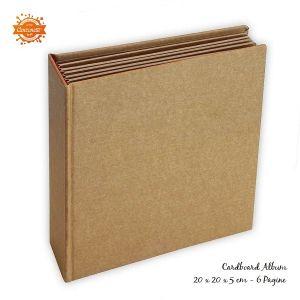 Cardboard Album - Cartoncino Spesso Quadrato 20 x 20 x 5 cm - Kraft - art. KC79 - Stamperia