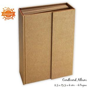 Cardboard Album - Cartoncino Spesso Rettangolare 9,5 x 13,5 x 4 cm - Kraft - art. KC80 - Stamperia