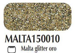 Malta/pasta acrilica per fondi ed effetti materici 3D Glitter oro Ferrario 150 ml