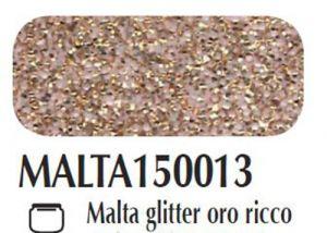 Malta/pasta acrilica per fondi ed effetti materici 3D Glitter oro ricco Ferrario 150 ml