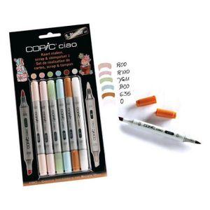 Pennarelli COPIC Ciao - 5+1 Blender Set Colori Tenui