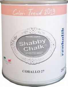 Shabby Chalk 250 ml - Barattolo Latta - CORALLO - 27 - Decorlandia