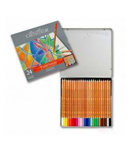 Matite Pastello - Confezione in metallo - 24 colori di alta qualità per artisti - art. 470 24 - Cretacolor