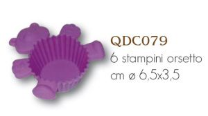 Stampi in silicone per dolci - cupcake - Bear / Orsetto - art. QDC079 - CakeDesigne Stamperia Dolcemania