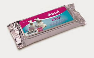 Pasta modellabile Autoindurente - Darwi KIDS - Bianco - Extra Soft - 250 g - art. DA08 0250 000 - Darwi