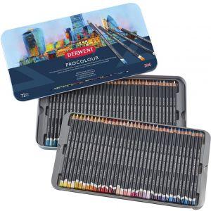 PROCOLOUR - Set 72 matite colorate - Pastello Semi-Morbido - Professional Quality - art. 2302508 - Derwent