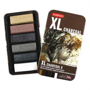 Carboncino CHARCOAL XL - Confezione da 6 colorazioni - Derwent