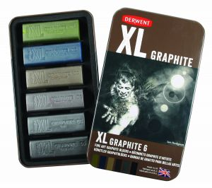 Carboncino GRAPHITE XL - Confezione da 6 colorazioni - Derwent