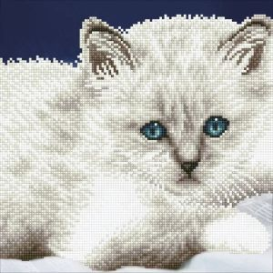Diamond Dotz - White Cat - Gatto Bianco - Kit completo - art. 49295