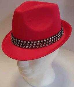 Cappello classico fuxia con fascia di Strass