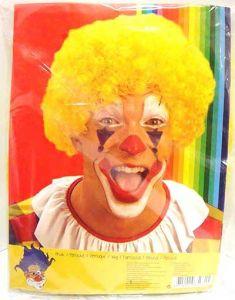 Parrucca Clown Ricci GIALLO - Accessori Carnevale