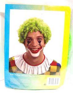 Parrucca Clown Ricci VERDE - Accessori Carnevale