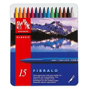 Pennarelli colorati acquerellabili Caran D'ache Fibralo 15
