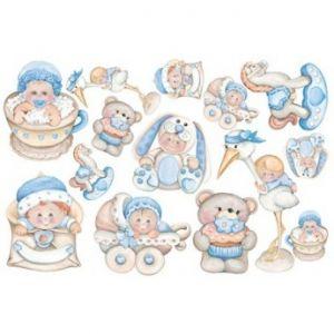 FOMMY DECO' - Baby Boy - Fogli di gomma Eva/Crepla - Moosgummi - cm.20x30 - art. GDTEM004 -  Renkalik