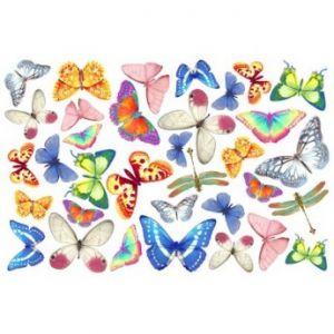FOMMY DECO' - Farfalle -  Fogli di gomma Eva/Crepla - Moosgummi - cm.20x30 - art. GDTEM001 -  Renkalik
