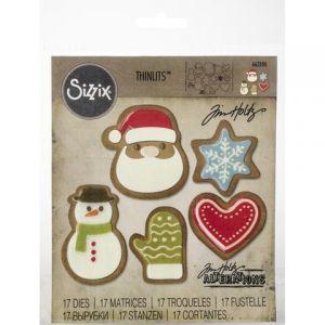 Fustella Natale scrapbooking - Set 17 Fustelle Sizzix thinlits -