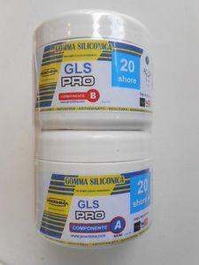 Gomma siliconica GLS PRO 20 - bicomponente A+B per stampi antiaderenti - 500 gr - Prochima