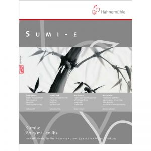 Bocco di carta tecnica giapponese a inchiostro Sumi-e  Hahnemühle 20 fogli, 80 g/m2 24x32