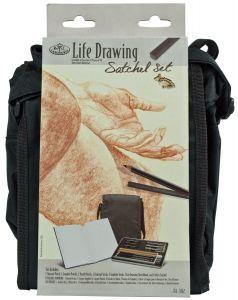 Life Drawing Satchel Set - Set da Disegno con cartella a tracolla - art. FA-302 - Royal & Langnickel