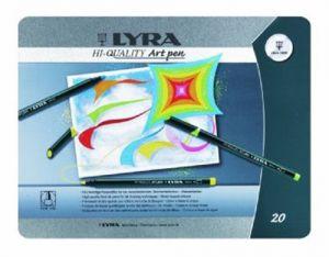 Pennarelli a base d''acqua Hi-Quality Art pen Lyra 20 colori