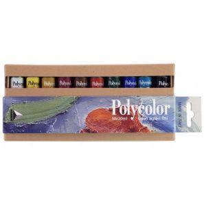 Colori acrilici fini  Maimeri Polycolor Primary set 10 tubetti 20 ml scatola in cartone