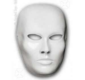 Maschera Viso in plastica Bianca - ART. 170 - Carnival Toys s.r.l.