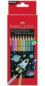 Metallic Colour Pencils - 10 Matite Metallizzate colori Brillanti - art. 20 15 83 - Faber-Castell