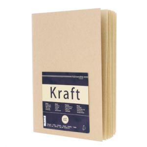Blocco di carta KRAFT - disegno/schizzi - quaderno A4 spillato - 20 fogli - art. 10 628 791 - Hahnemühle