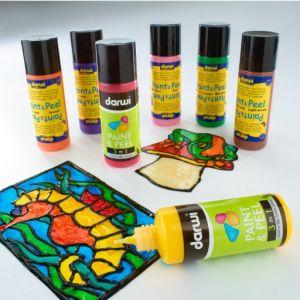 Paint & Peel - Colori riposizionabili 3 in 1 da 80 ml per vetro e superfici lisce - Darwi