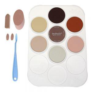 PanPastel Skin Tones Set - Pastelli Morbidi in pasticca - Ultra Soft Artist's Painting Pastels - 7 Colori Pelle + Palette & Tools  - art. 30081