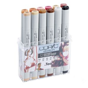 Pennarelli Copic Sketch - 12 Skin Tone Colours - Set colori pelle - art. 21 075 705