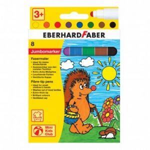 Pennarelli per Bambini - Jumbomarker Mini Kids Club - punta extra grande - Lavabili - 8 colori - art. 550009 - Eberhardfaber