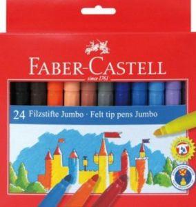 Pennarelli Punta Grande Jumbo - Confezione 24 colori - Lavabili - art. 55 43 24 - Faber-Castell