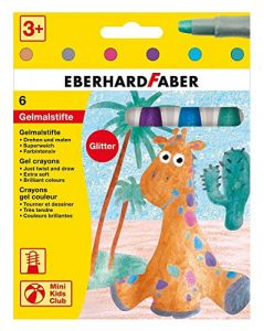 Penne colorate con inchiostro gel - Glitter - Pastelli Soffici Punta Grande - Mini Kids Club - art. 529106 - EberhardFaber