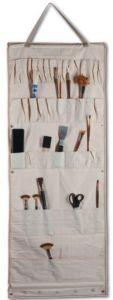 Porta pennelli e utensili vari grande - da Appendere e/o arrotolabile - Stuoia vuota - cotone beige - art. 500964 - AMI